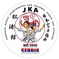 Klub resultater fra det 13th JKA European youth championship 2016, Serbia, Niš