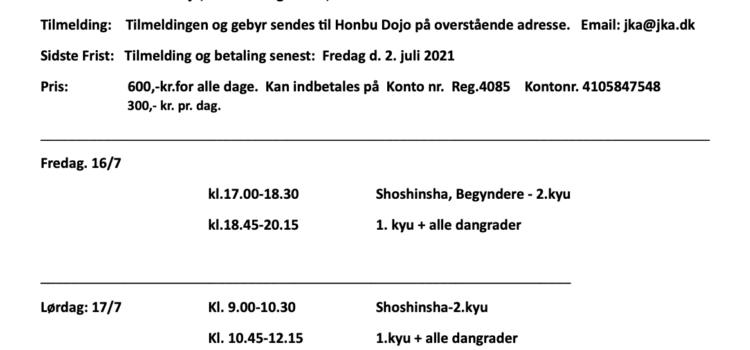 Gasshuku med Bura sensei  8. dan JKA, Marino sensei 7. dan JKA, Pall sensei 7. dan JKA